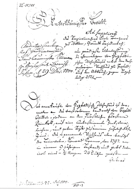 Official document of J.C. Binzer Company from the founding year 1800