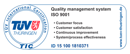 Logo TÜV Certification ISO 9001