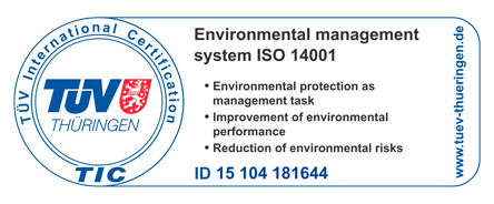 Logo TÜV Certification ISO 14001